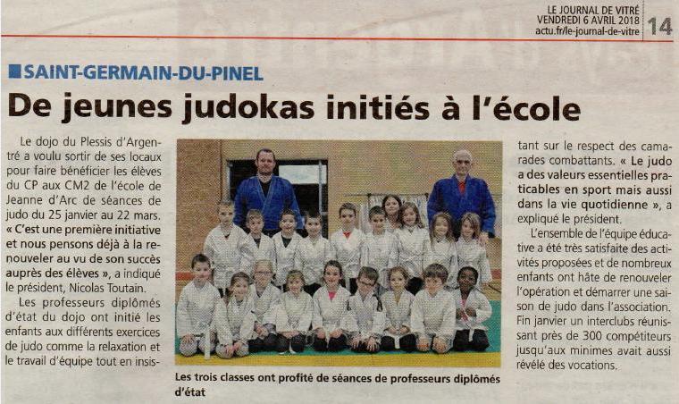 Initiation Judo dans les écoles