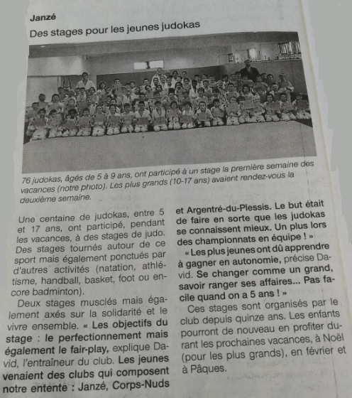 Ouest-France 6nov18 article stages .png
