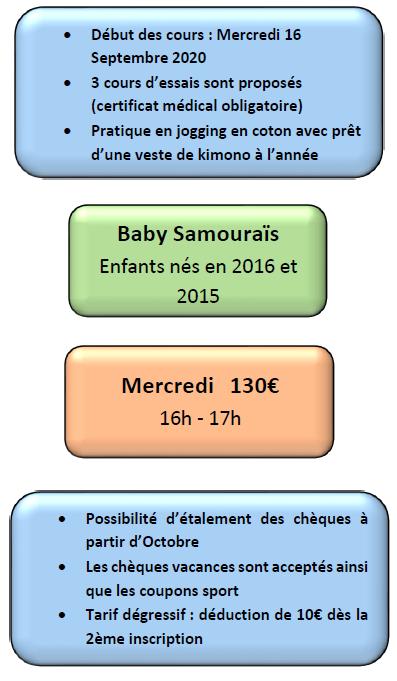 horaires tarifs baby samourai